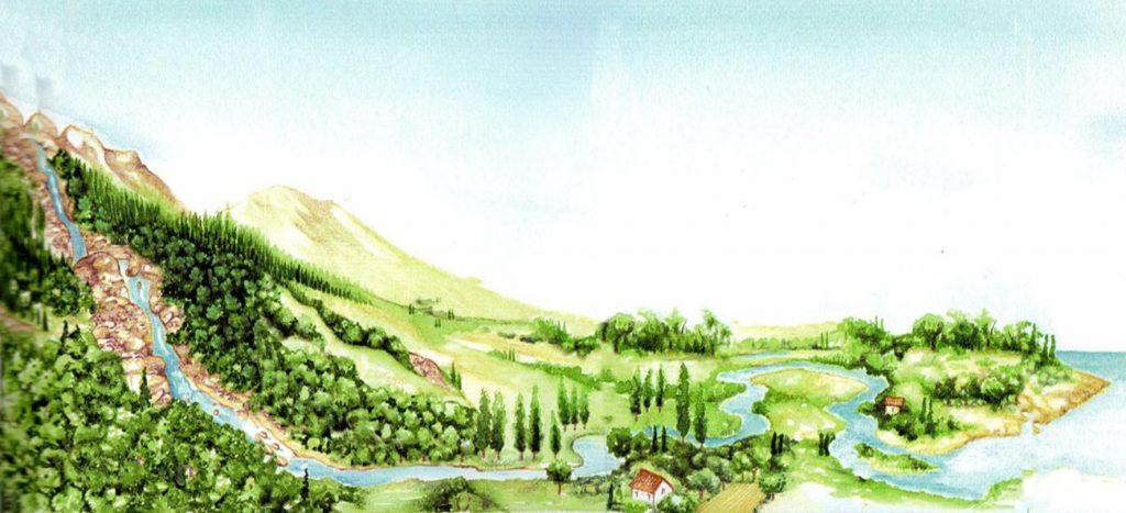 fig. 5 Zonazione di un fiume montano